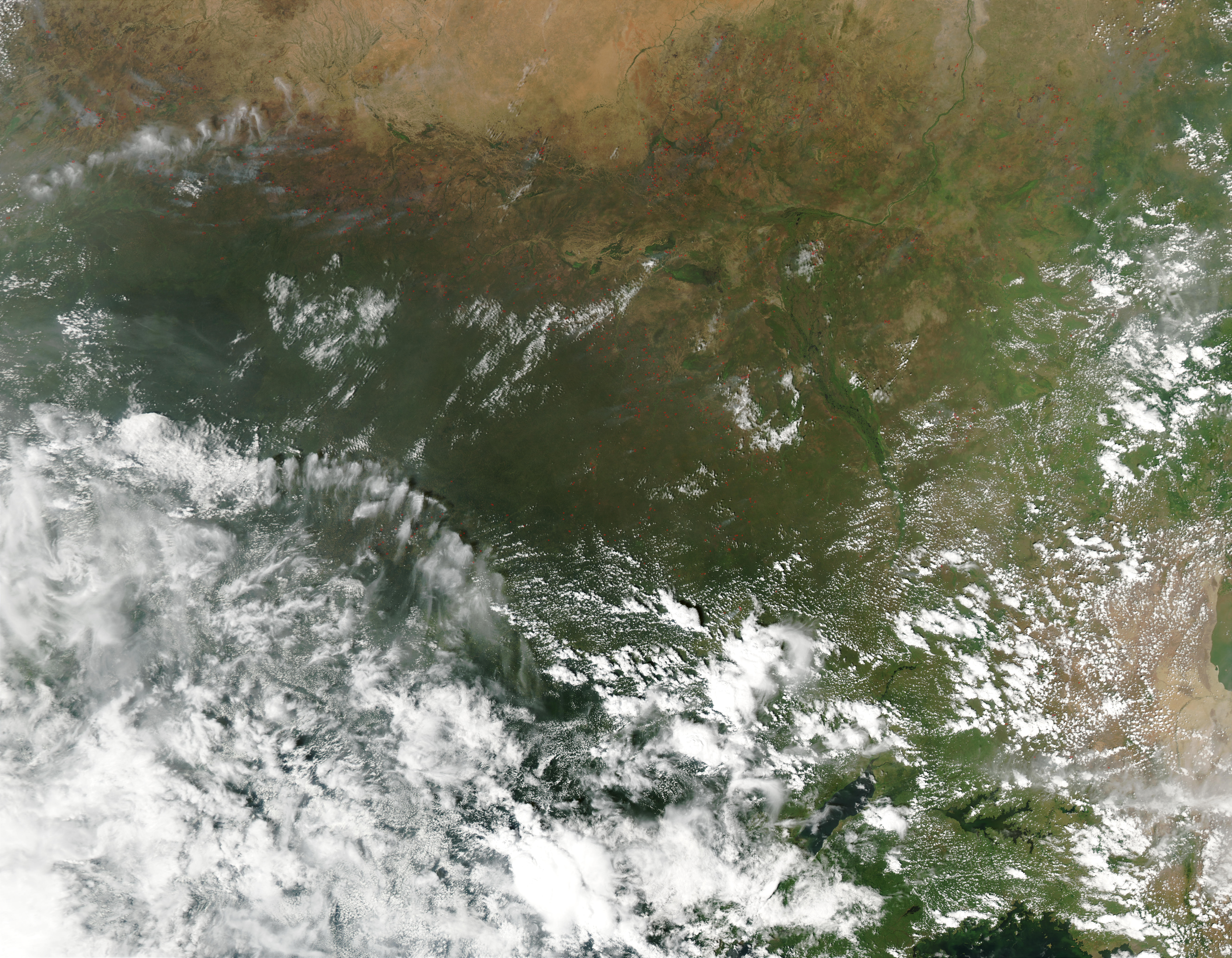 Fires in the Sahel and Savannas, Central Africa - related image preview