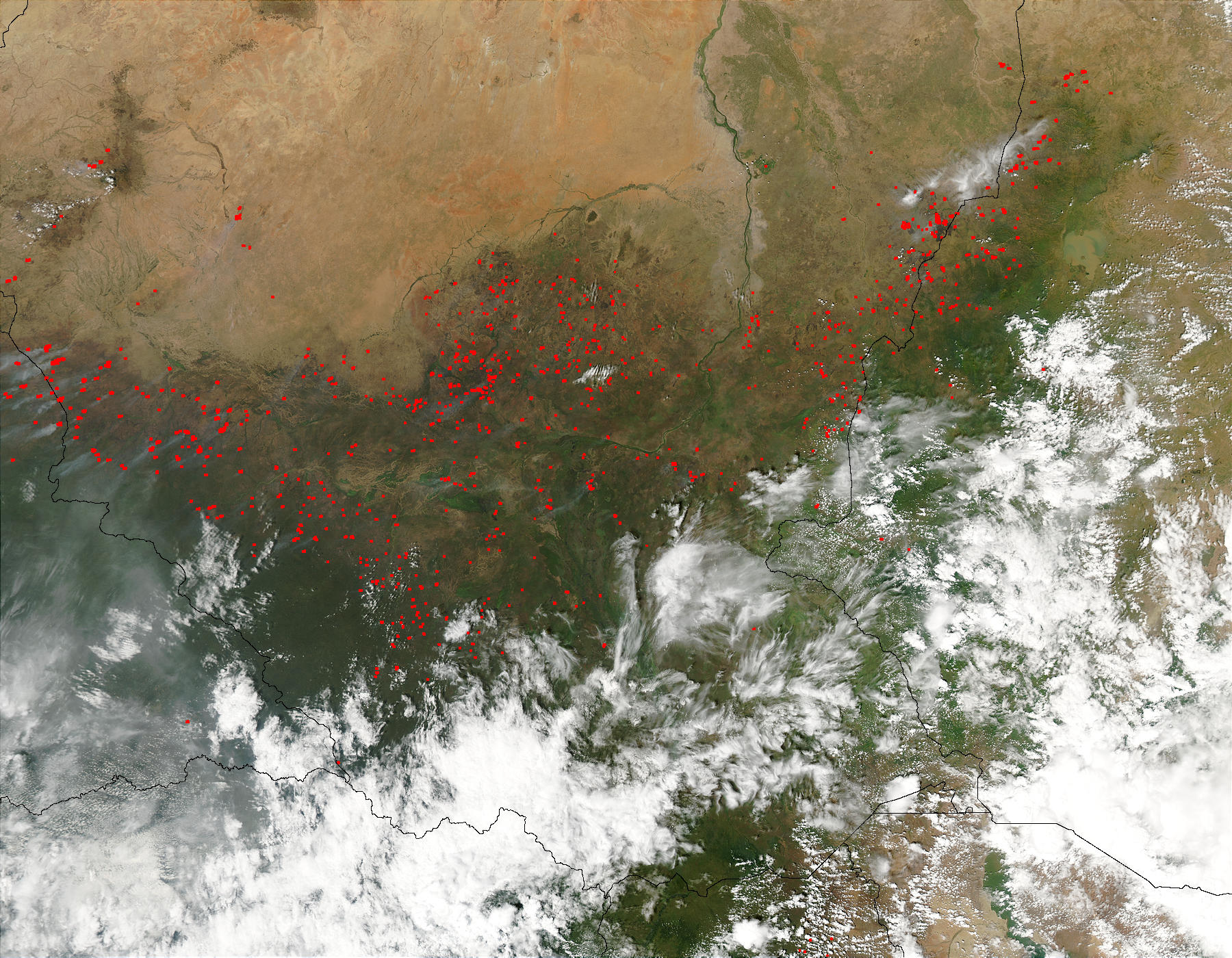 Fires in southern Sudan - related image preview
