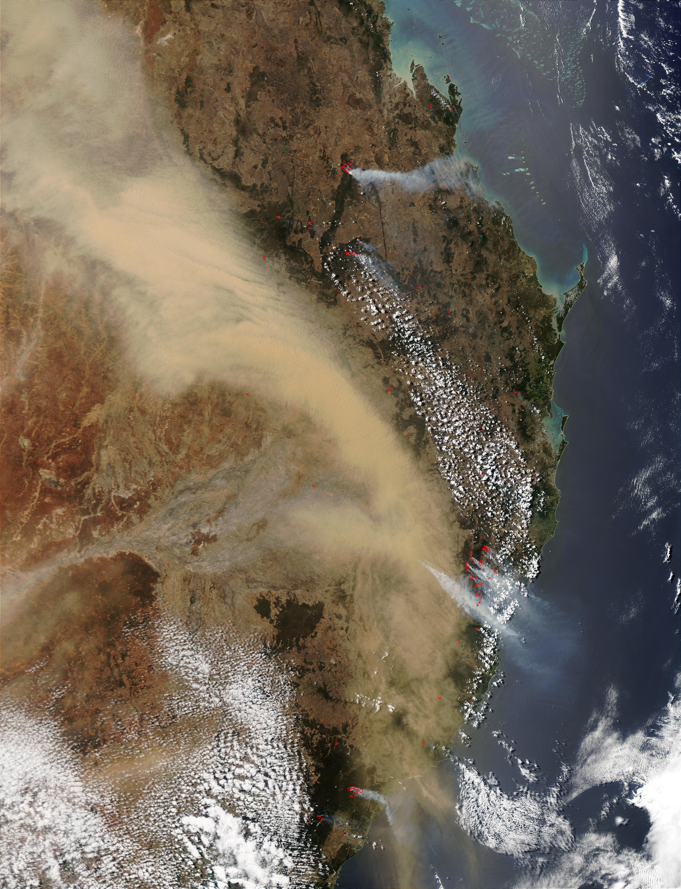 Dust storm over Eastern Australia - related image preview