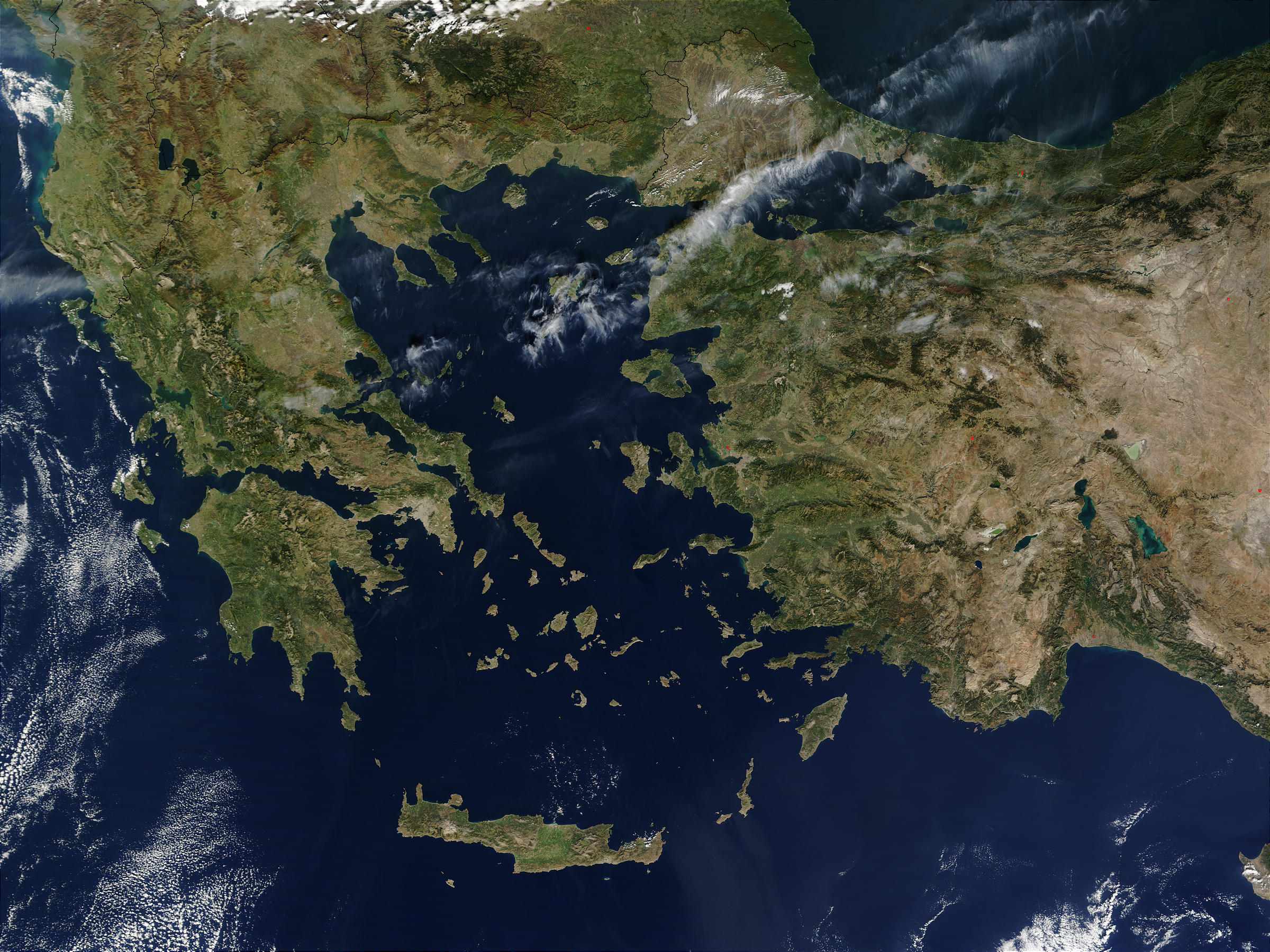 Nasa Visible Earth Turkey And Greece