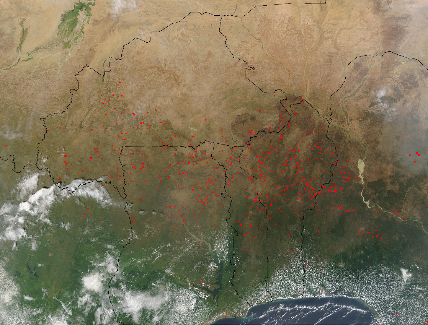 Fires in West Africa (morning overpass) - related image preview