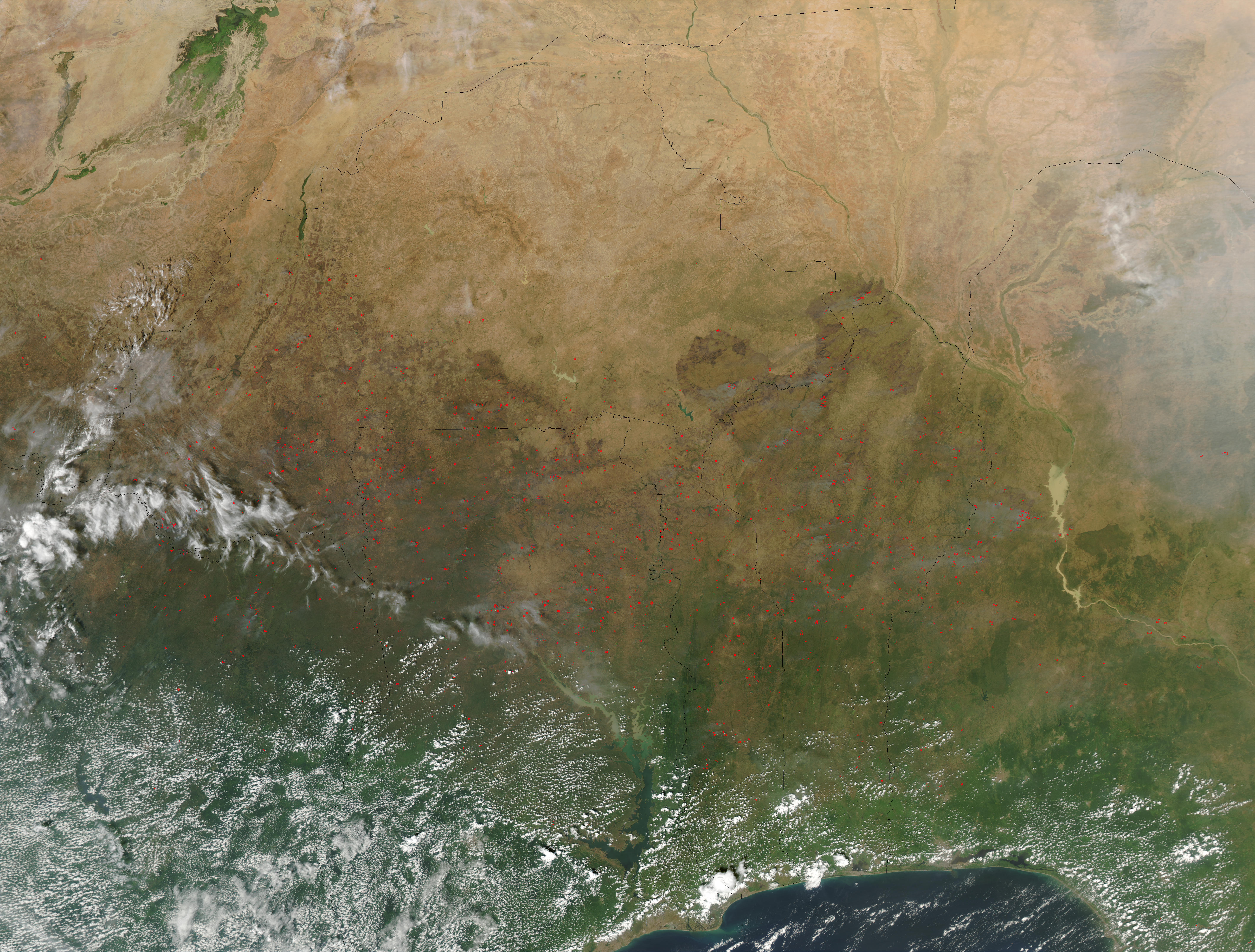 Fires in West Africa (afternoon overpass) - related image preview