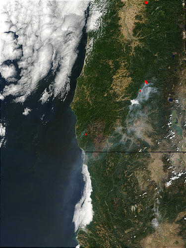 Burn scar of the Biscuit Fire, Oregon - related image preview