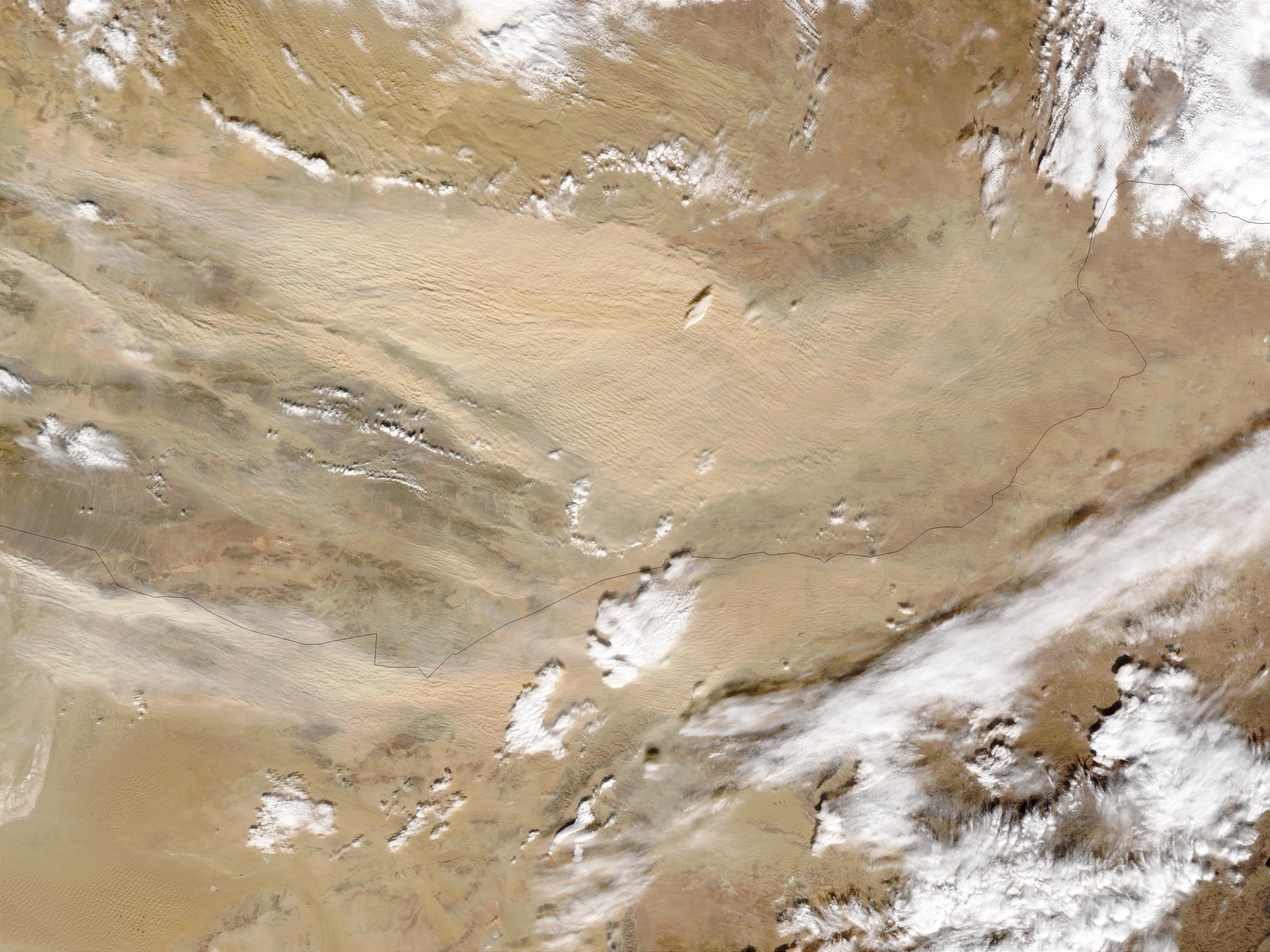 Dust storm in Gobi Desert, Mongolia - related image preview