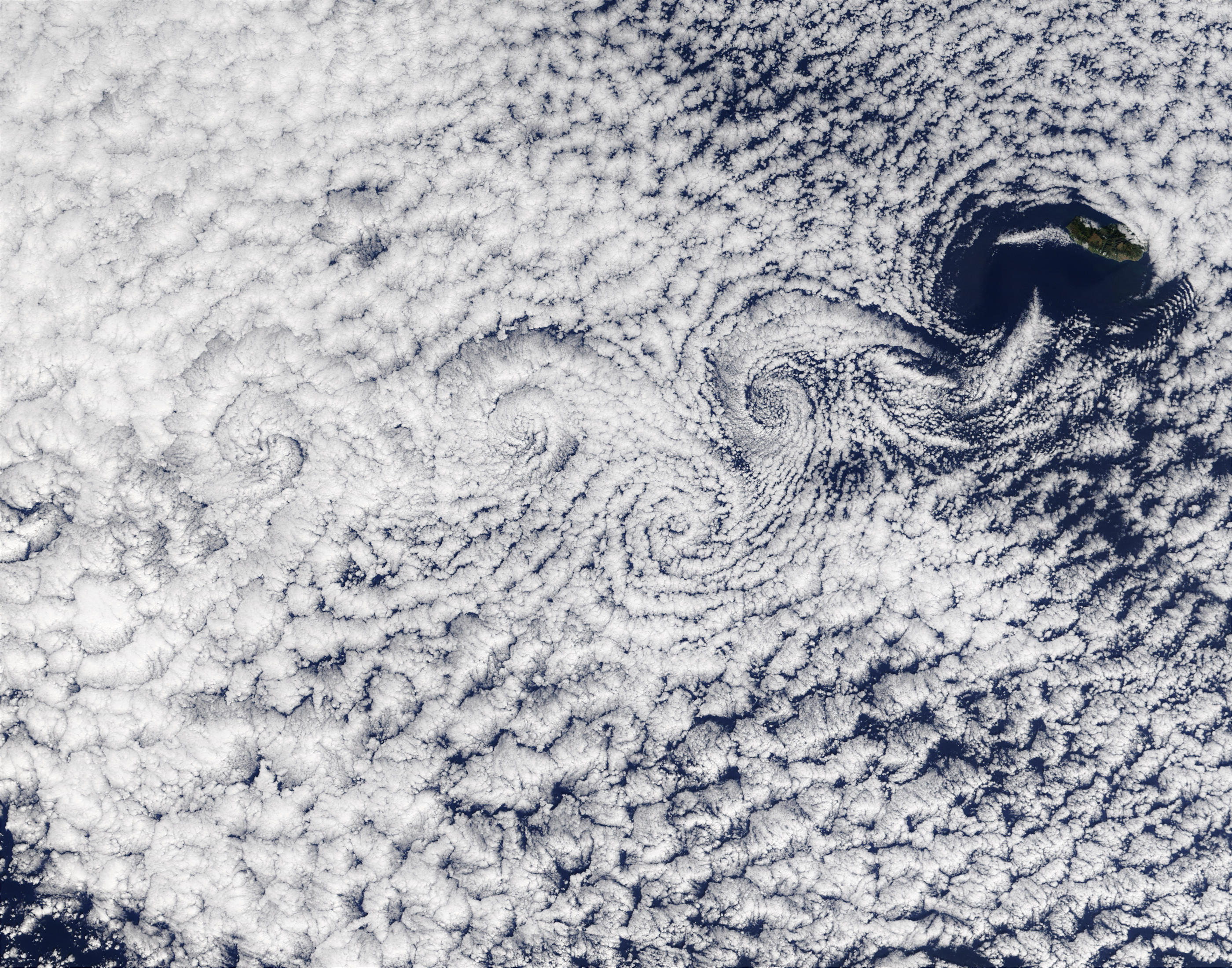 Vortex street near Madeira Island - related image preview