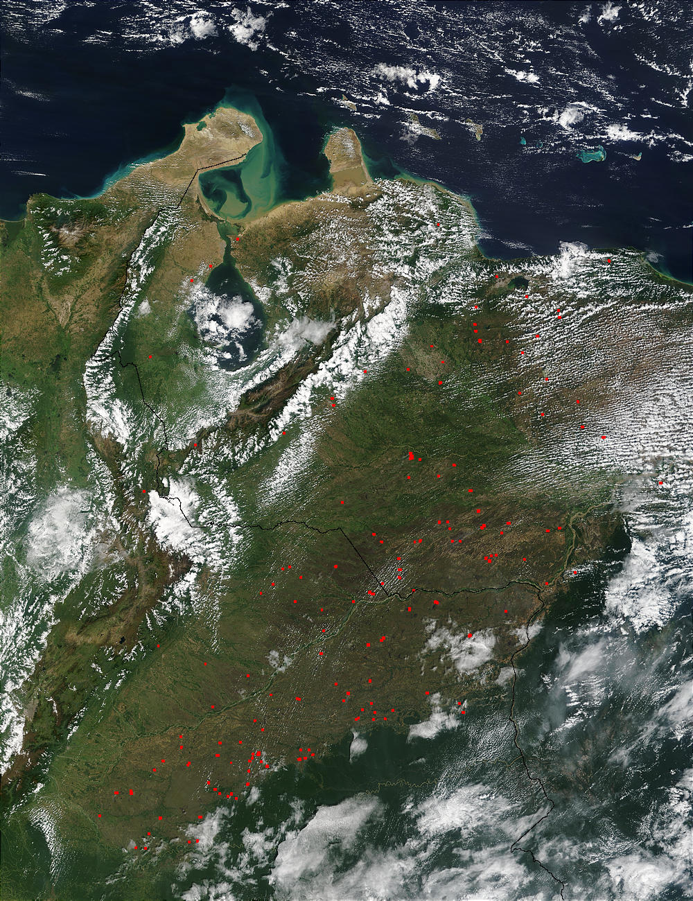 Fires in Venezuela and Colombia - related image preview