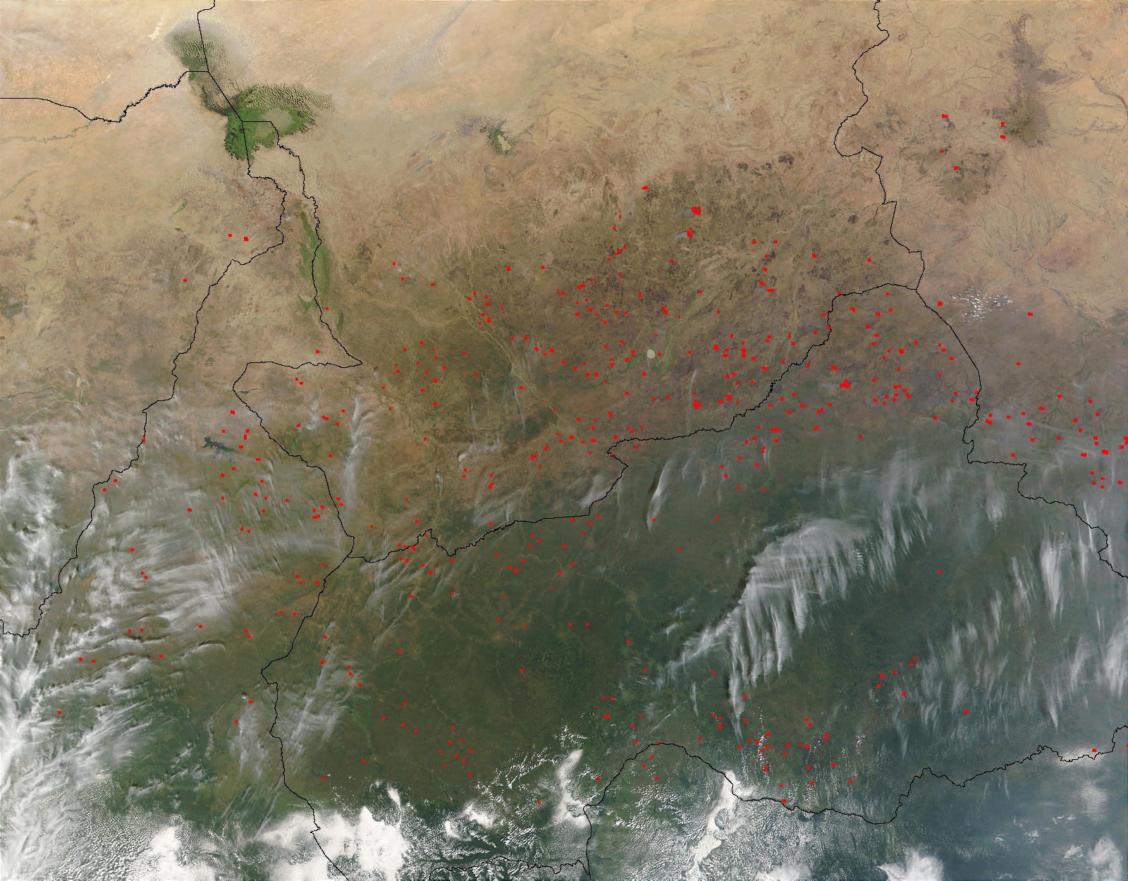 Fires in Central Africa - related image preview