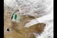 Snow in Kazakhstan and Uzbekistan