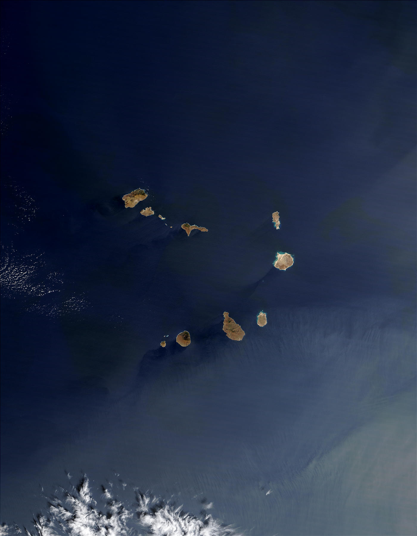 Saharan dust and West African smoke over Cape Verde Islands - related image preview