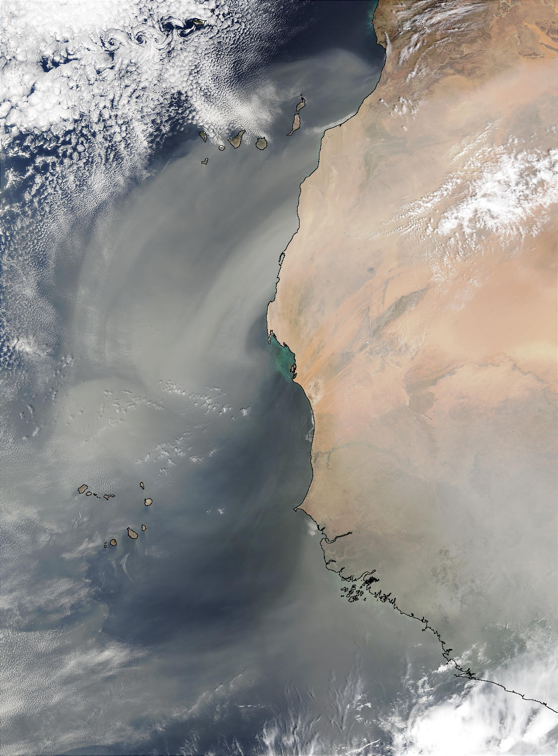 Saharan dust off West Africa - related image preview