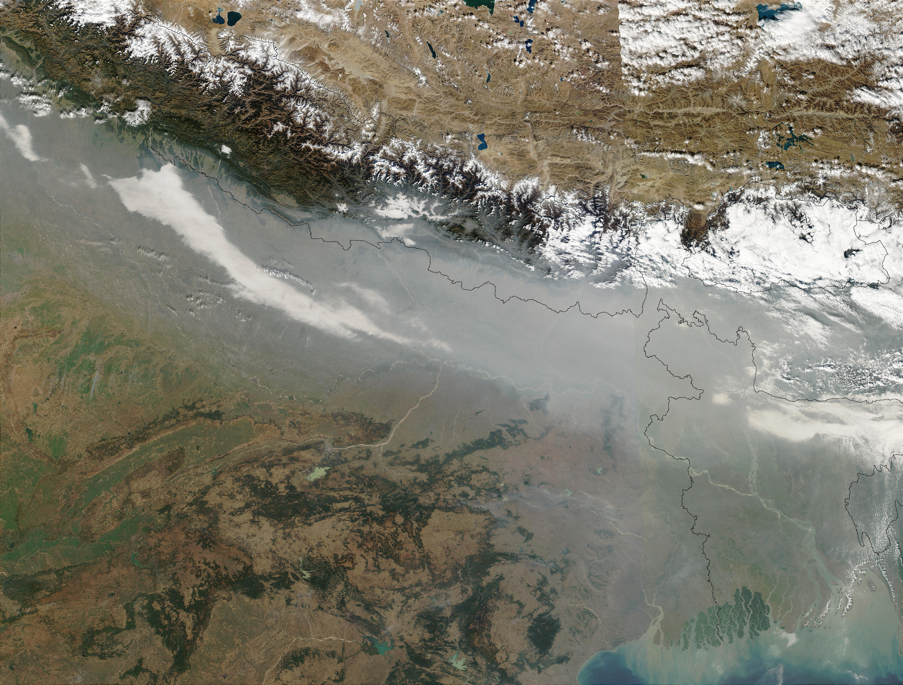 Pollution in Northern India and Bangladesh - related image preview