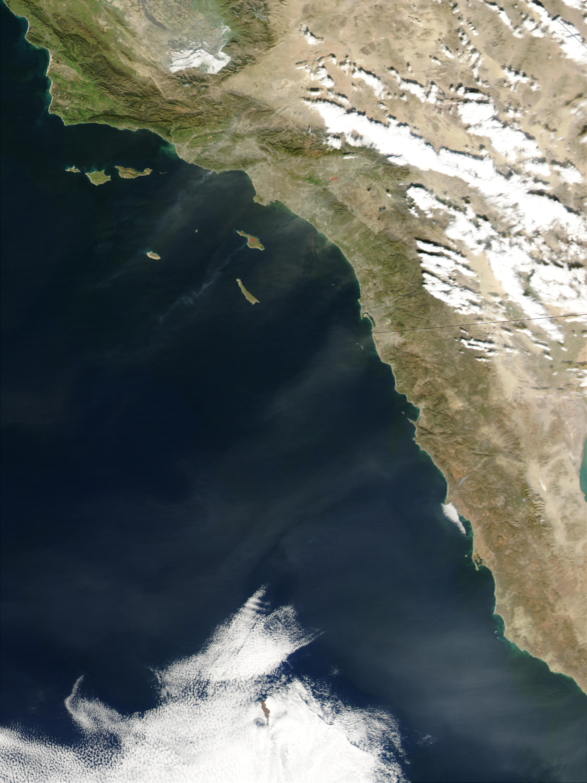 Dust over southern California - related image preview