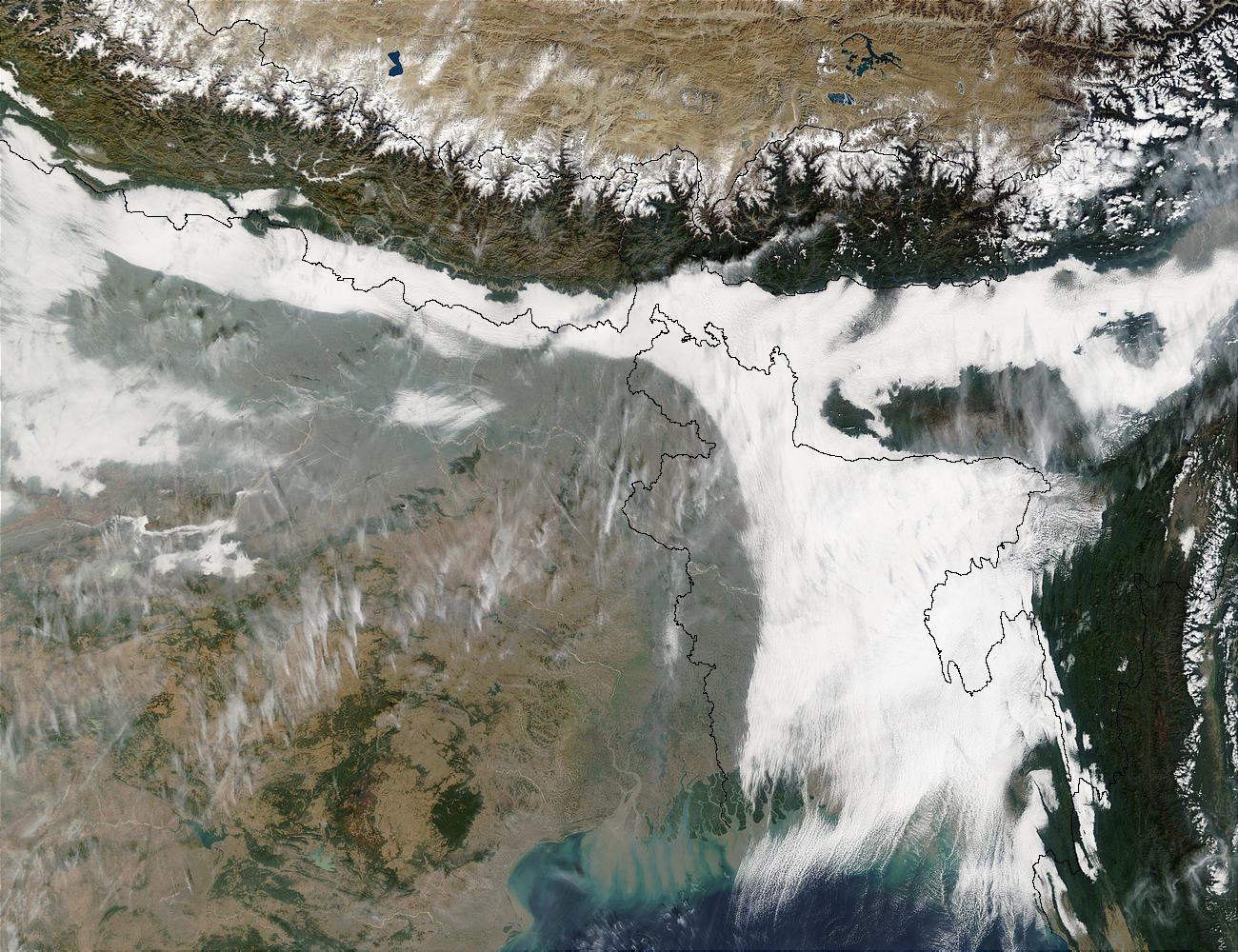 Haze and smog in Northeast India and Bangladesh - related image preview
