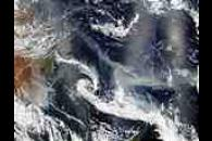 Australian smoke transported 4000 km over the Pacific