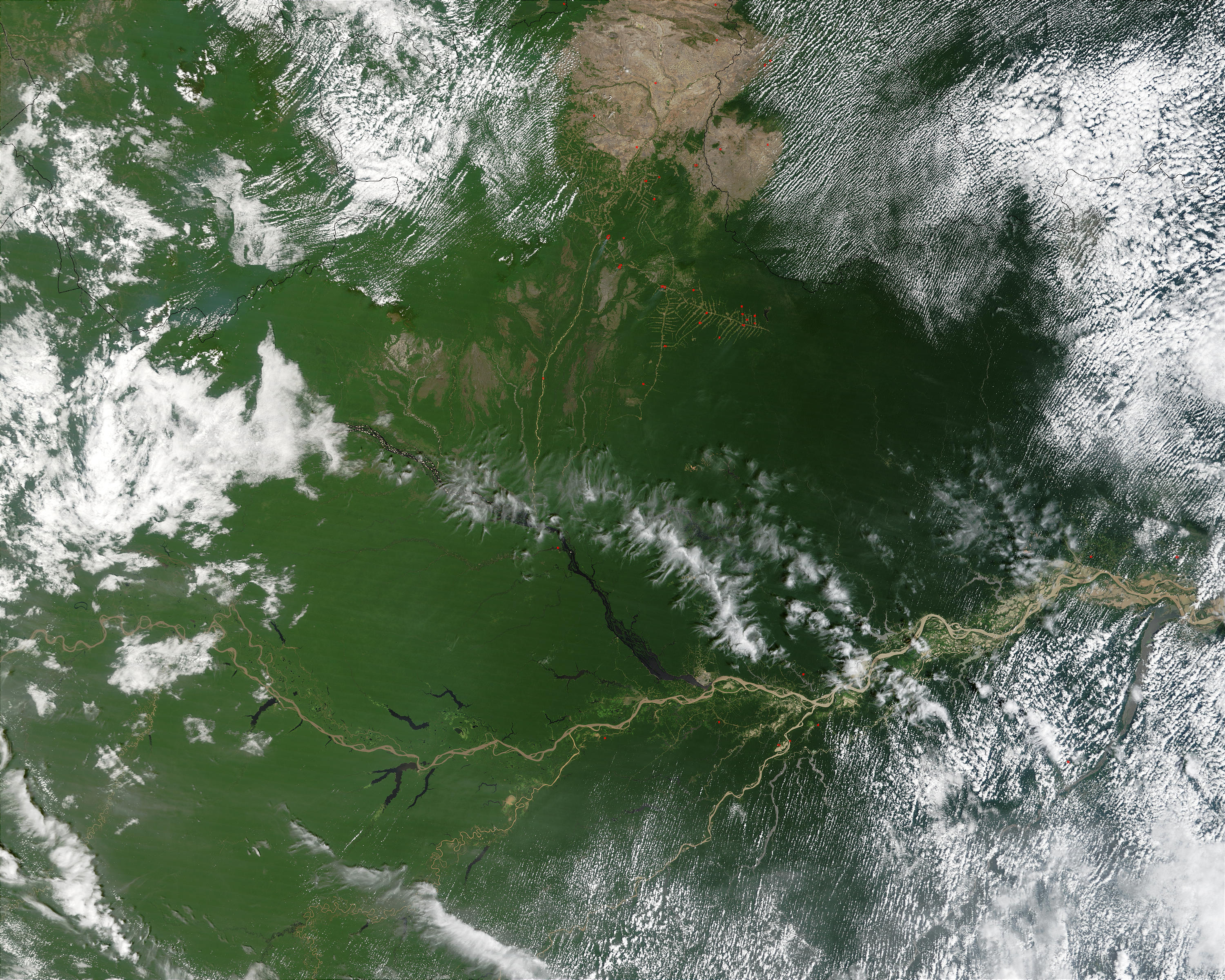 Fires in the Amazon Basin of Brazil - related image preview