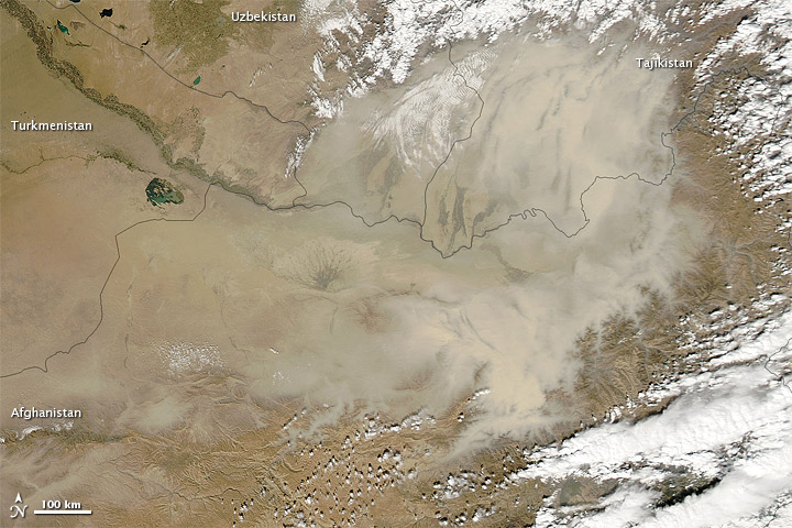 Dust Storm over Northeastern Afghanistan