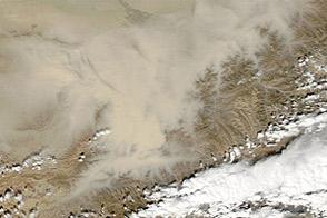 Dust Storm over Northeastern Afghanistan