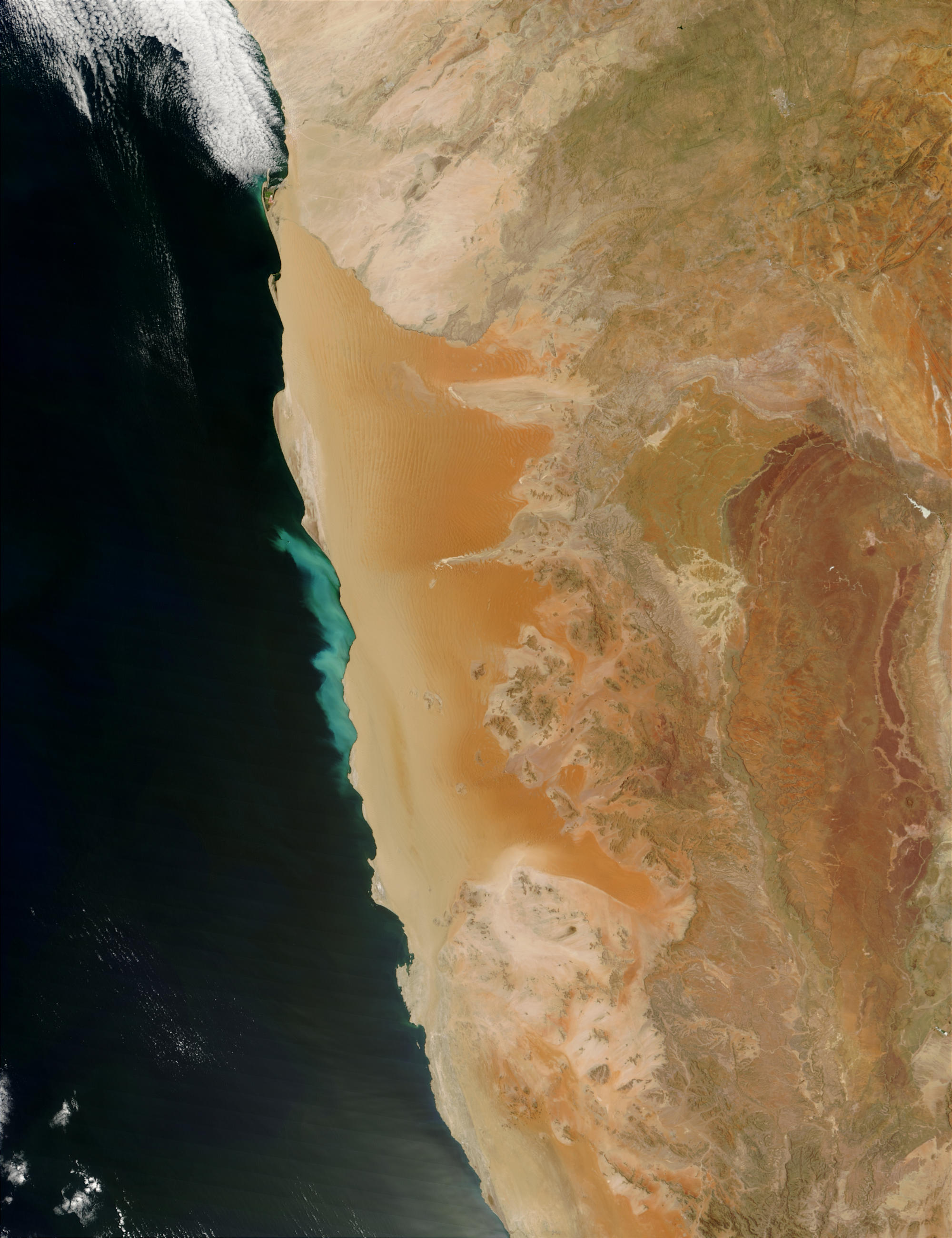 Sulfur plume off Namibia - related image preview