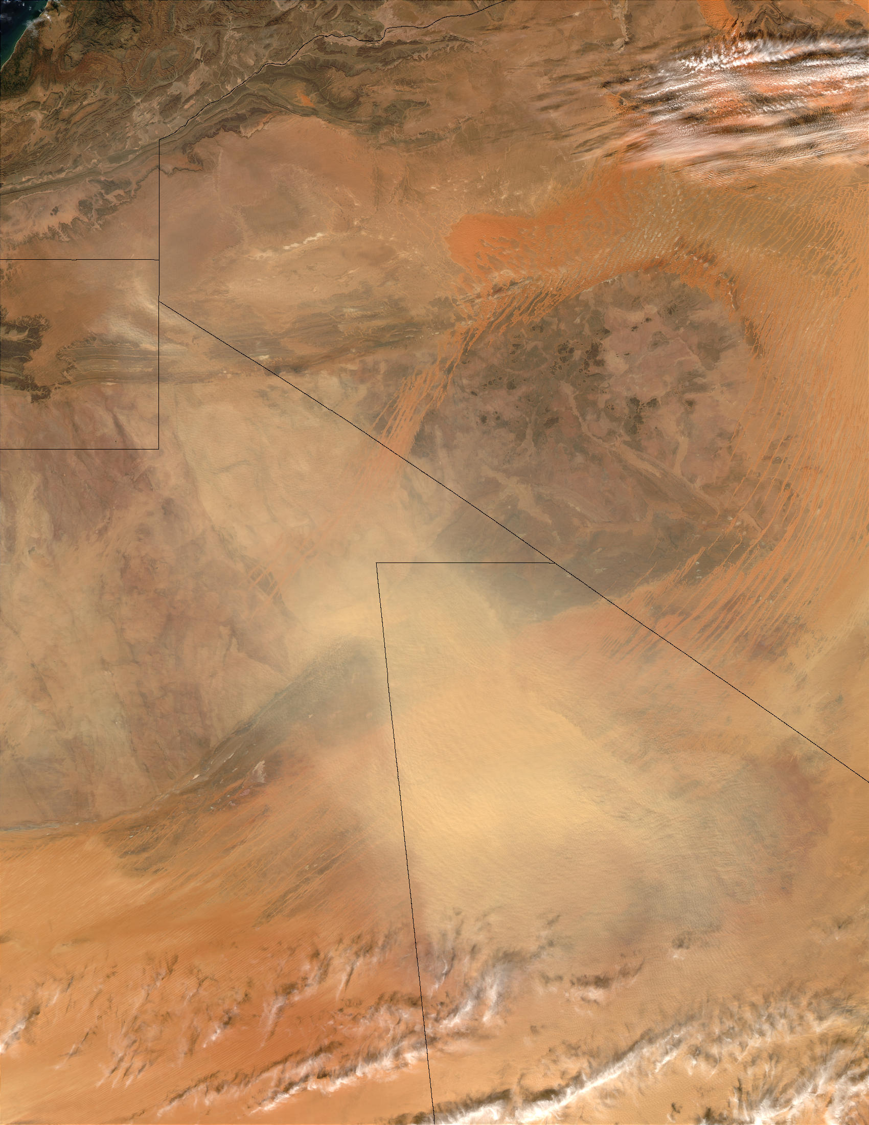 Dust storm in Mali and Mauritania - related image preview