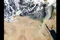 Saharan dust over the Mediterranean