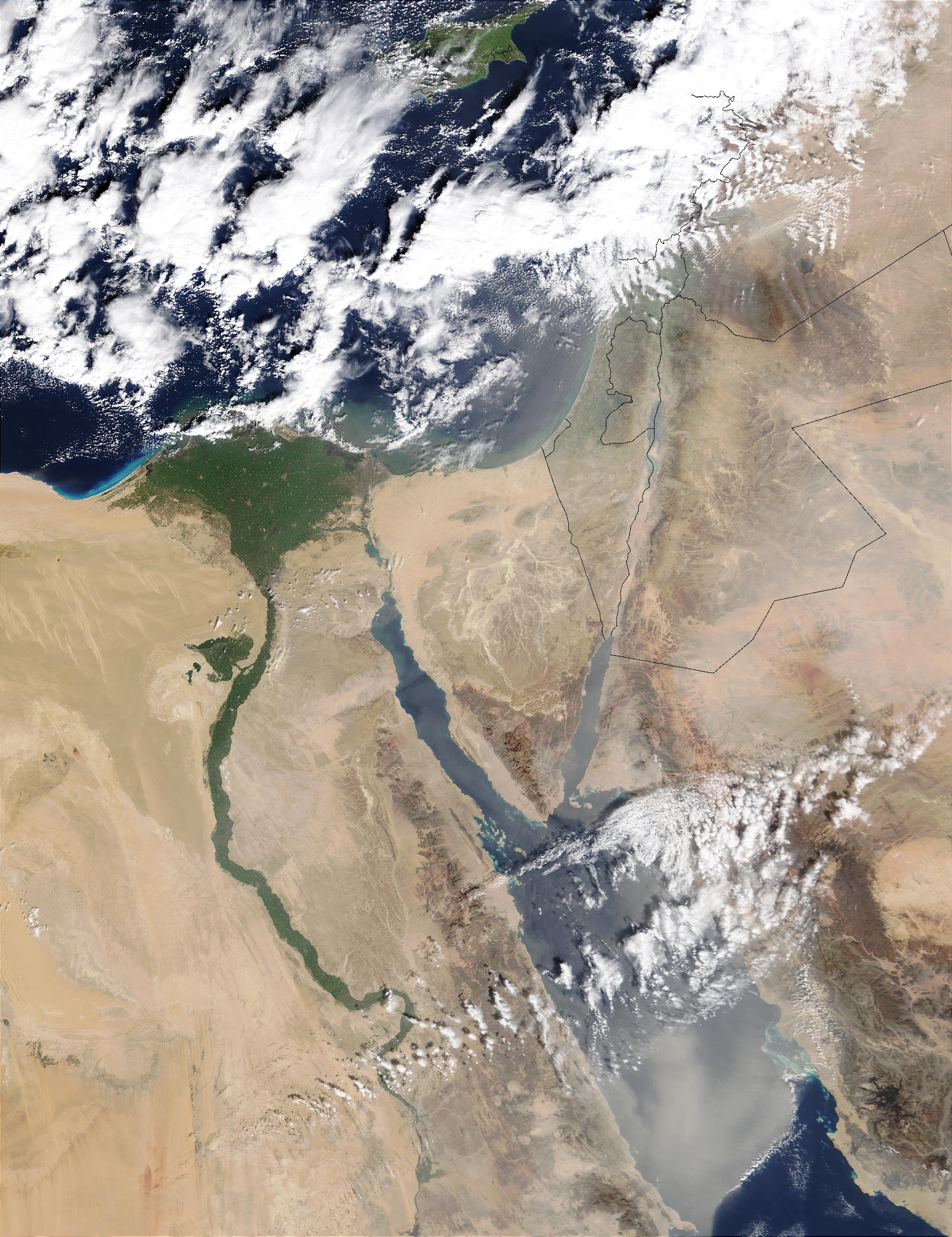 Saharan dust over the Middle East - related image preview