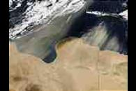Saharan dust off Lybia