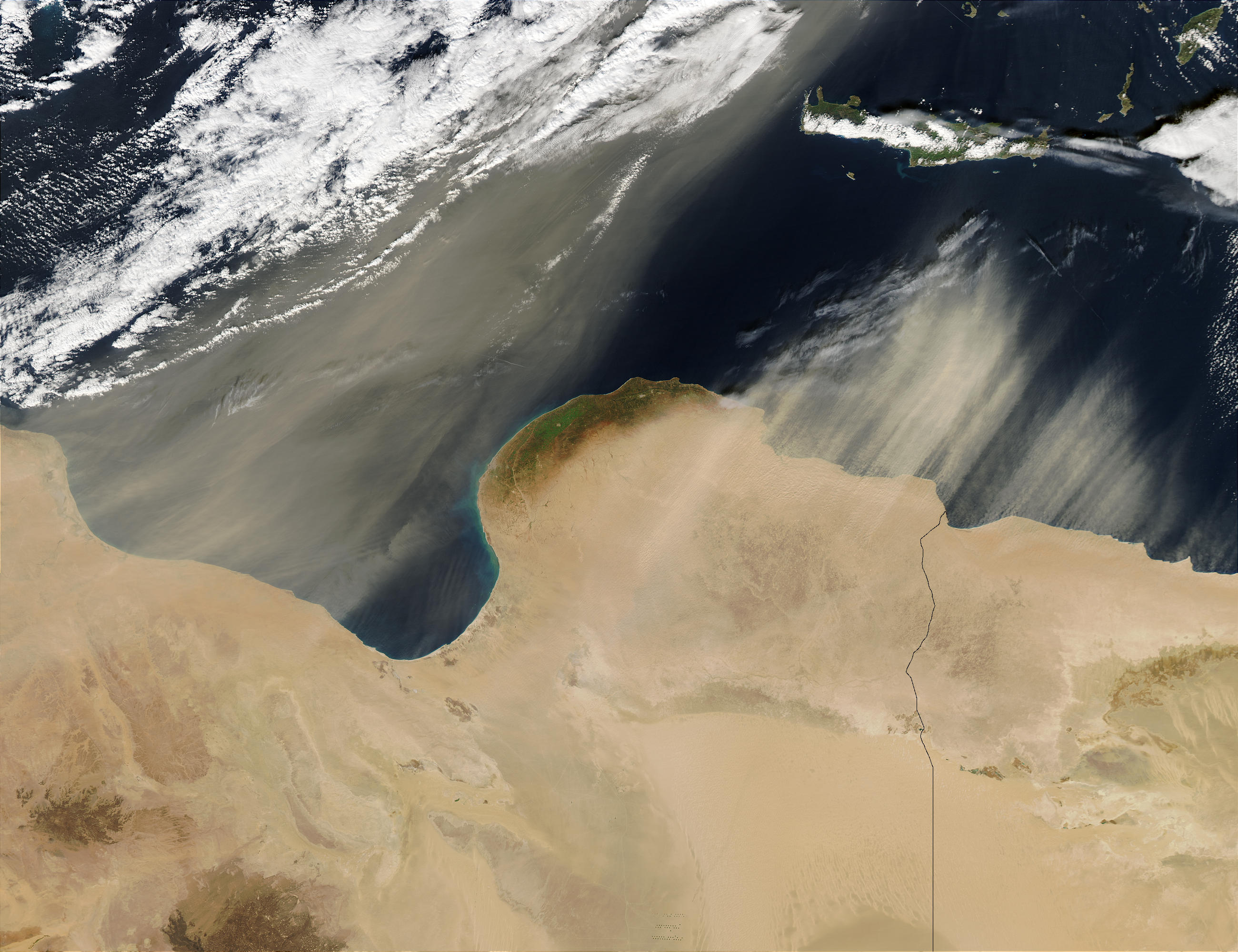 Saharan dust off Lybia - related image preview