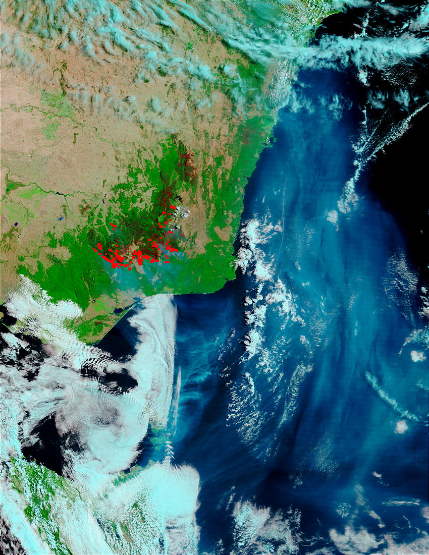 Fires, smoke, and burn scars in Southeast Australia - related image preview