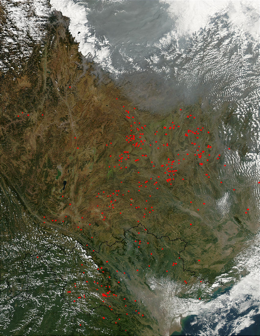 Fires in southcentral China - related image preview