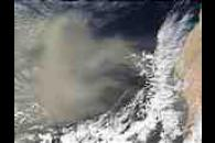 Saharan dust off West Africa