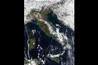 Snow in Italy and Sicily