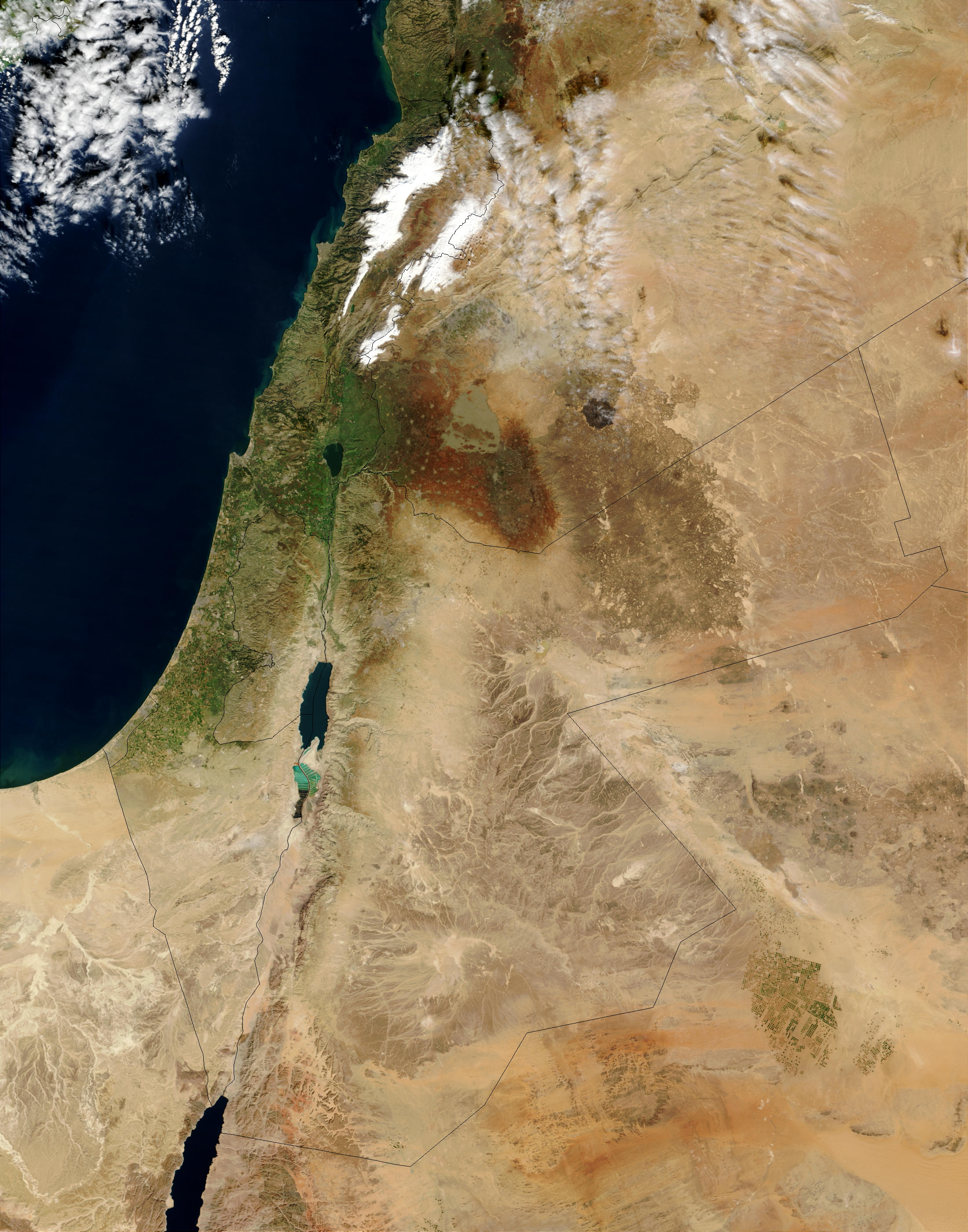 NASA Visible Earth Middle East