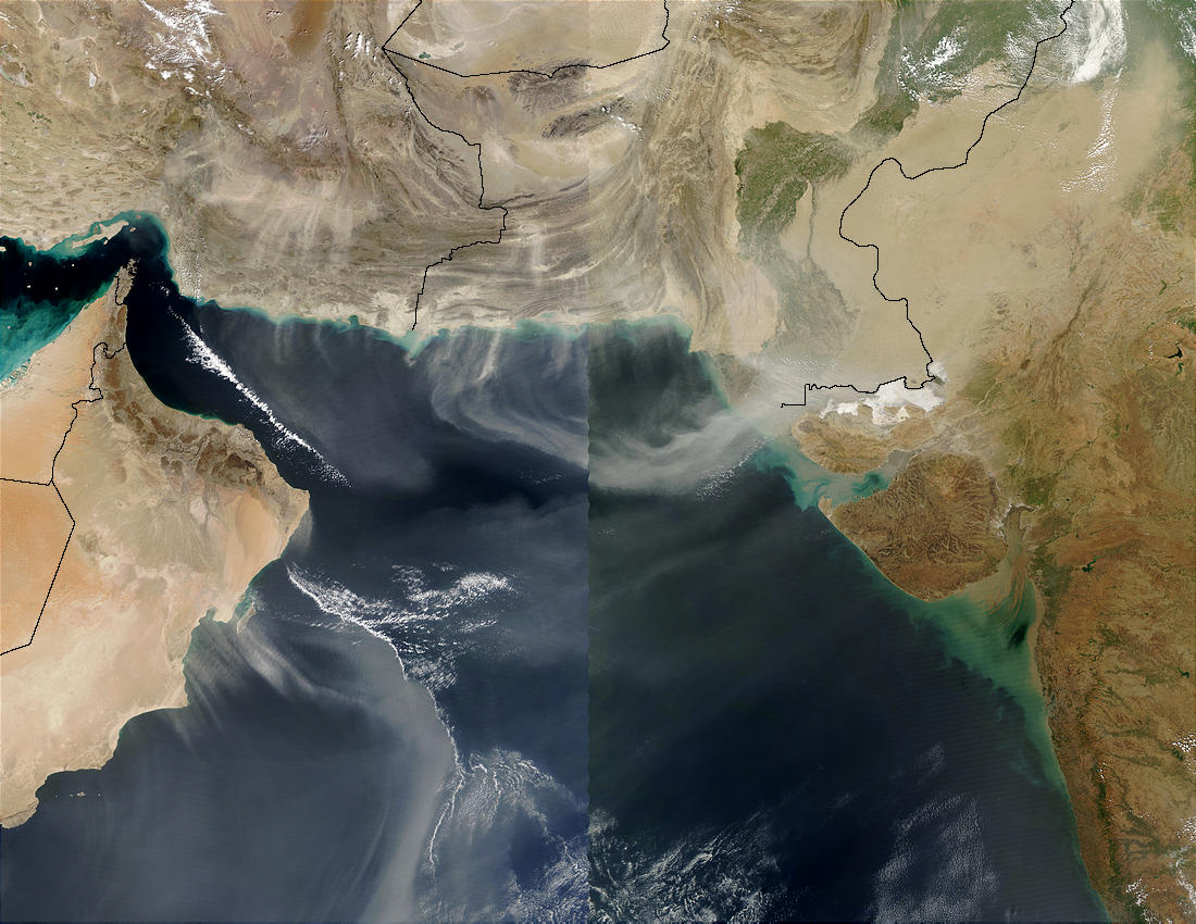 Dust over the Arabian Sea (Terra/Aqua combination) - related image preview