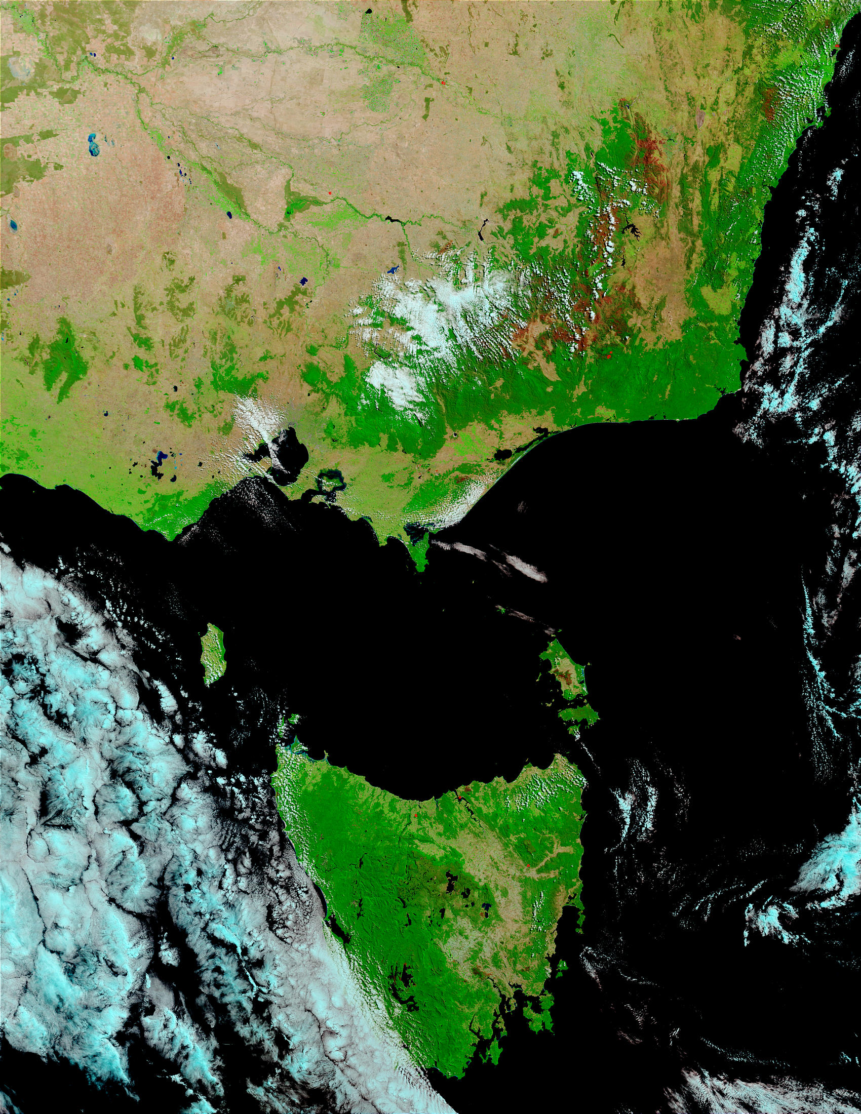 Burn scars in Southeastern Australia and Tasmania - related image preview
