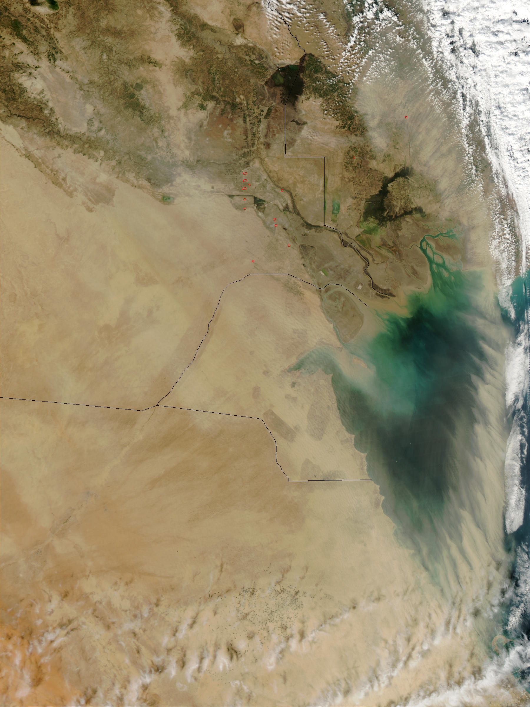 Dust storm over Kuwait - related image preview