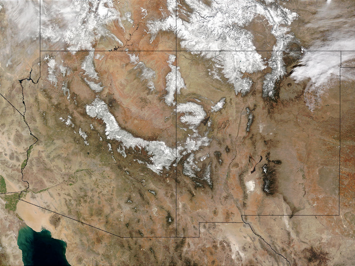 Snow across Southwest United States - related image preview