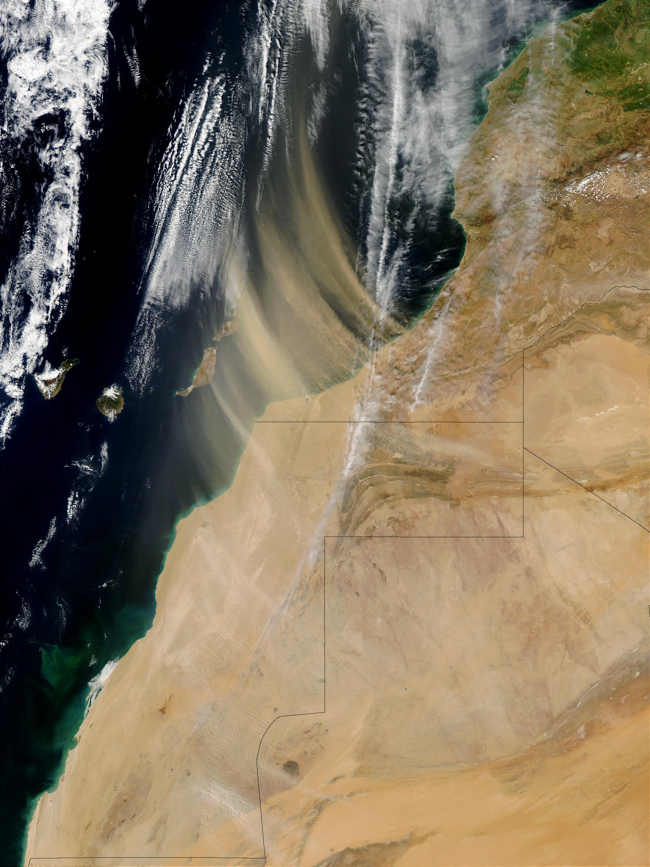Saharan dust off Morocco - related image preview