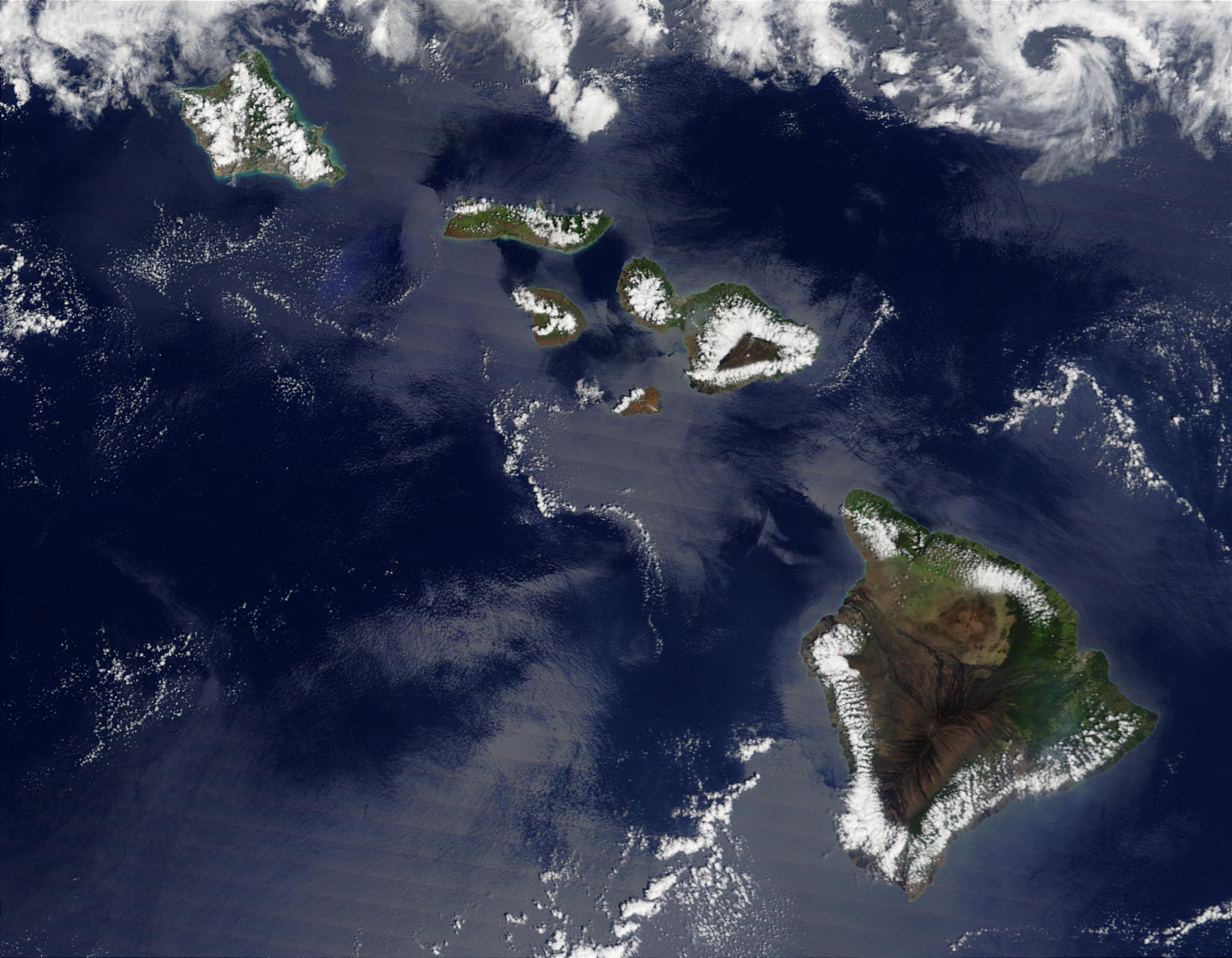 Nasa Visible Earth Hawaii