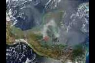 Fires and smoke in Yucatan Peninsula