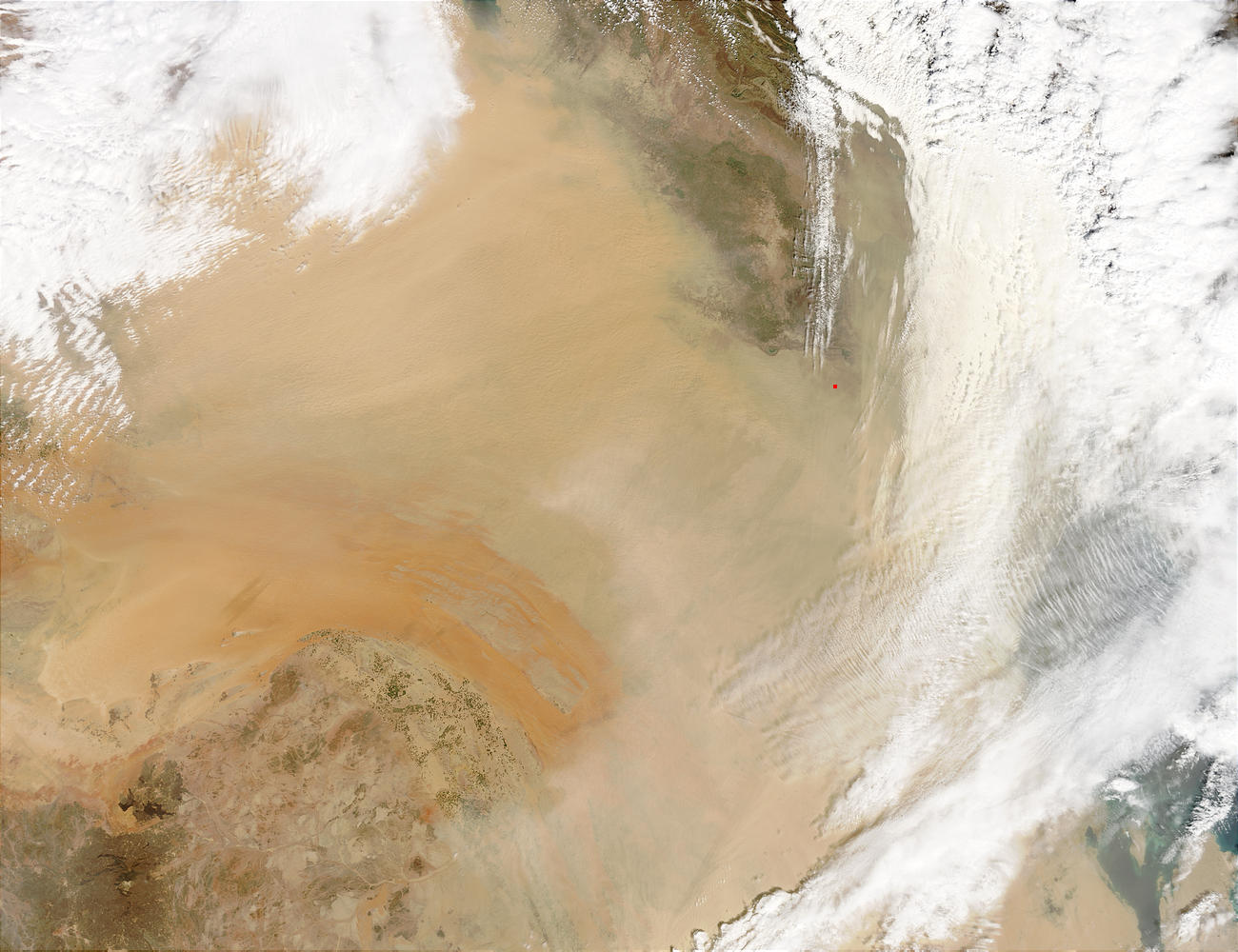 Dust storm across Iraq and Saudi Arabia - related image preview