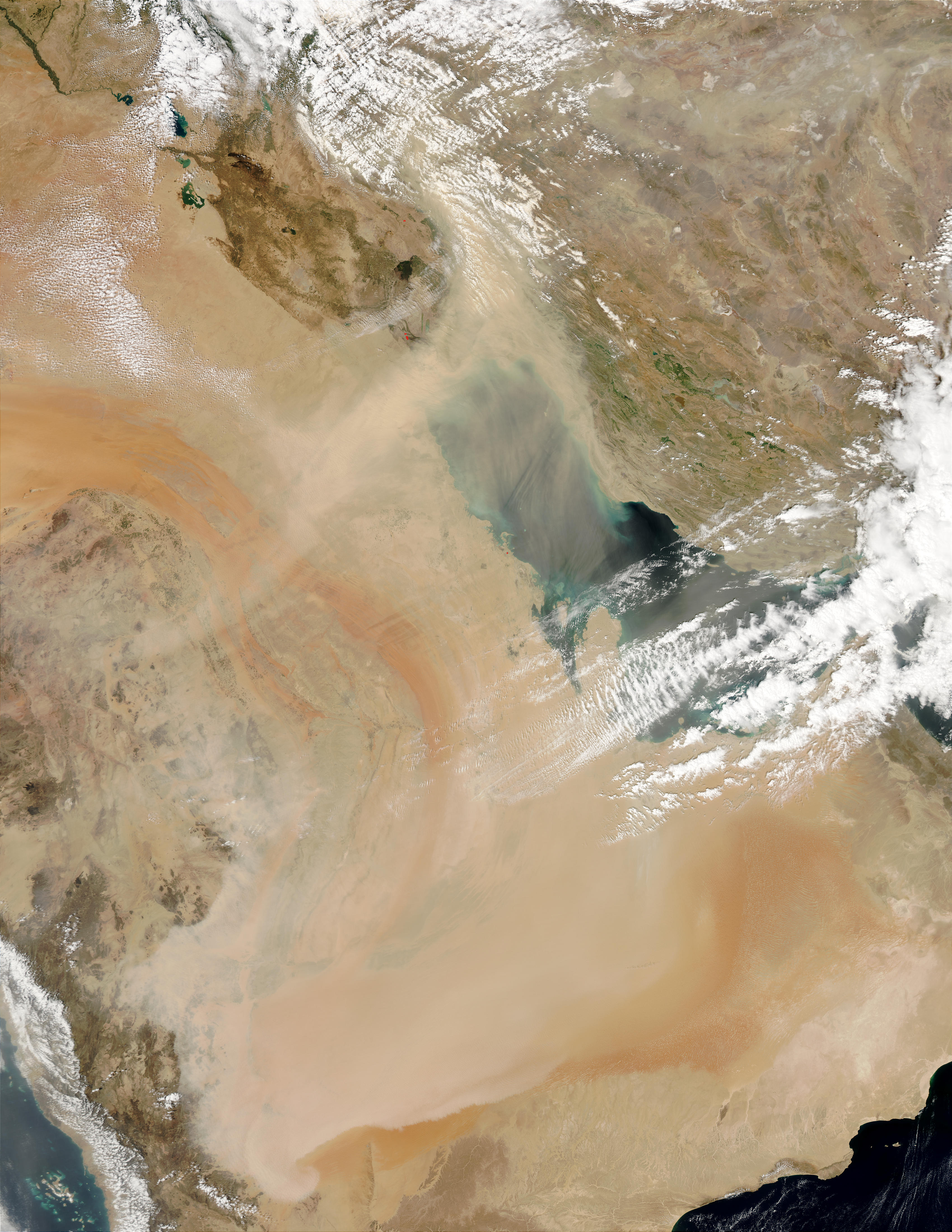 Dust storm across the Persian Gulf and Saudi Arabia - related image preview