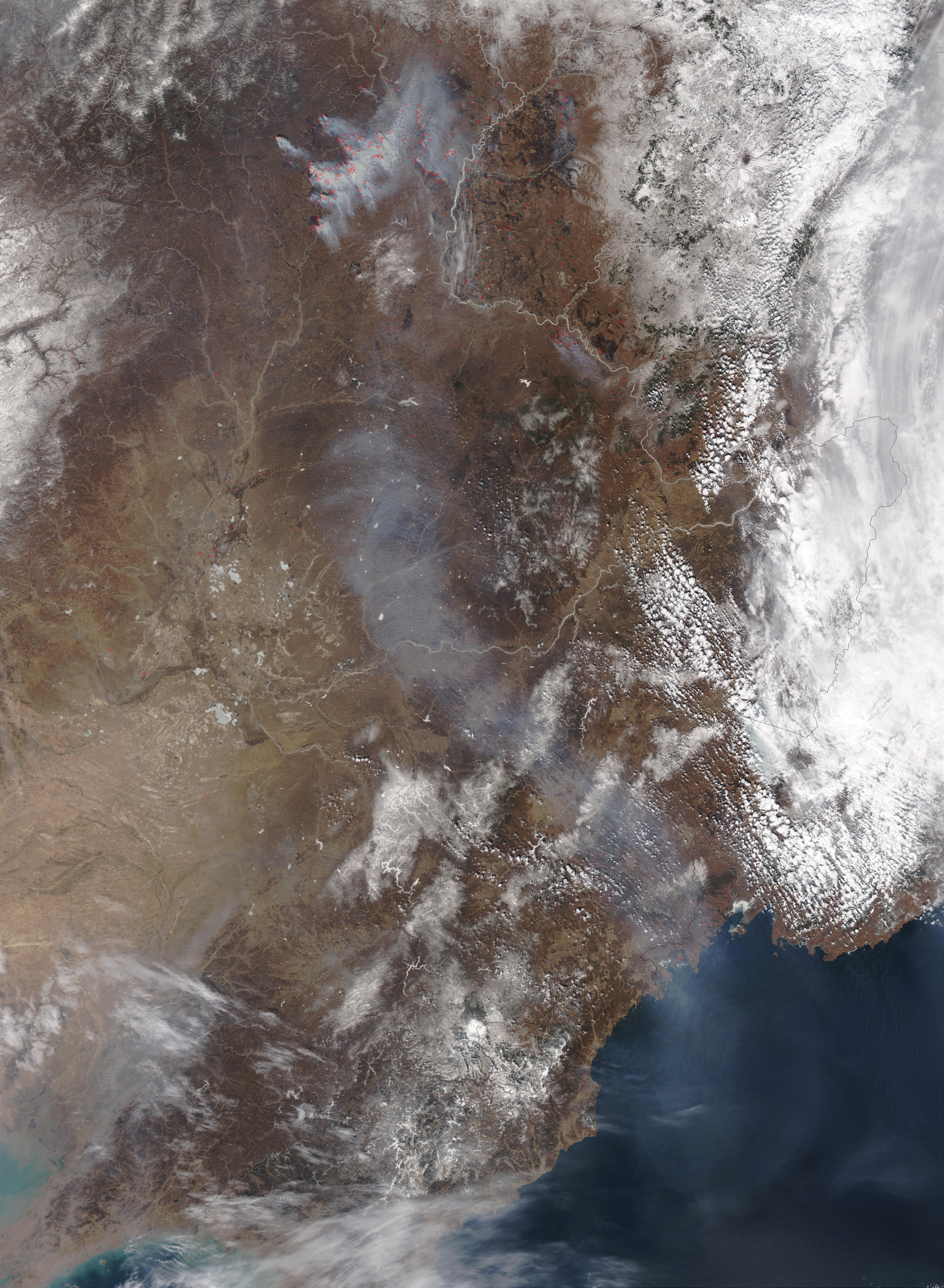 Fires and Smoke in Northern China - related image preview