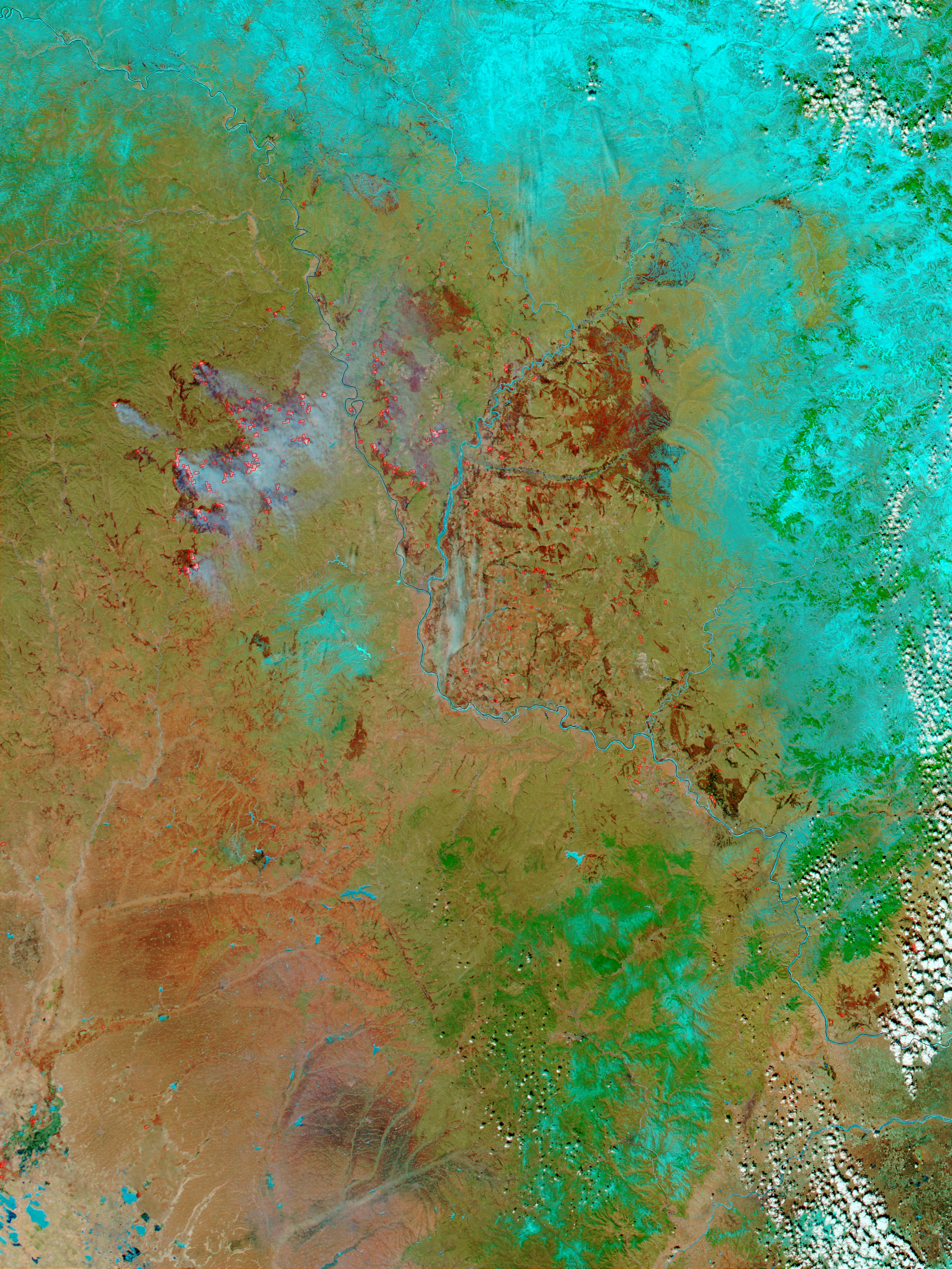 Fires and Burn Scars in Northern China - related image preview