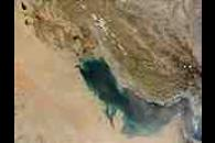 Dust storm across the Persian Gulf