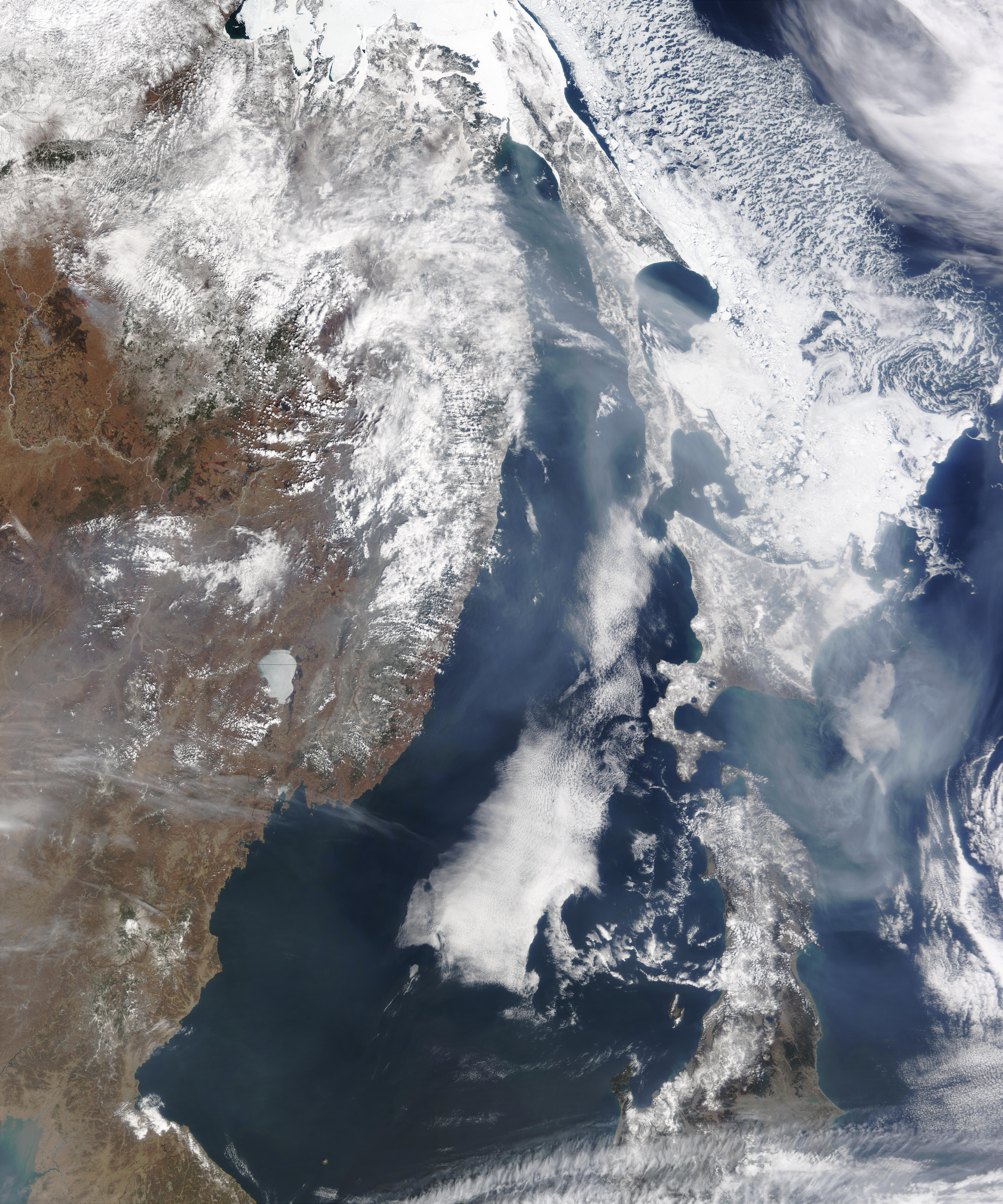 Fires in Asia and Smoke over the Pacific Ocean - related image preview