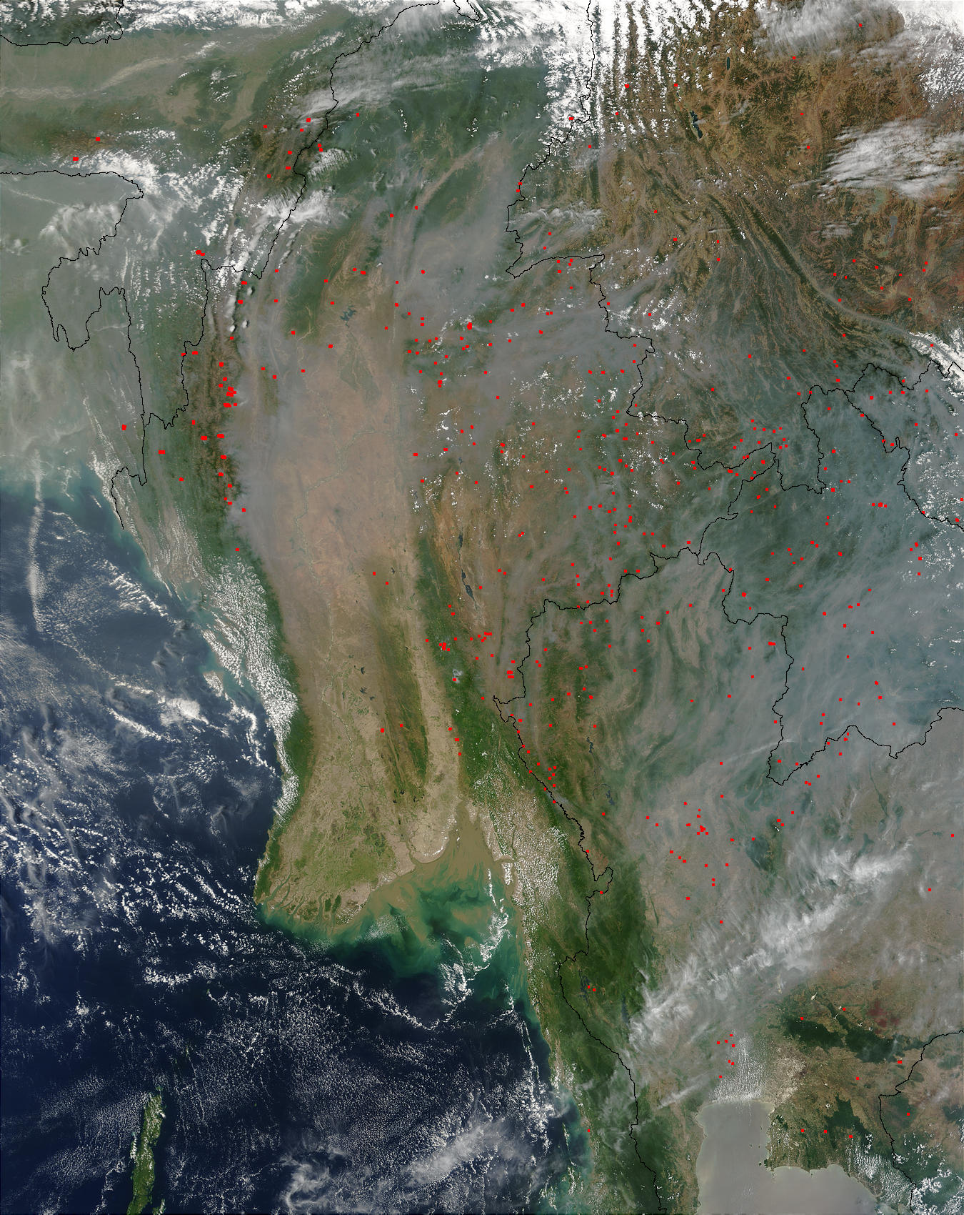 Smoke and Fires in Southeast Asia - related image preview
