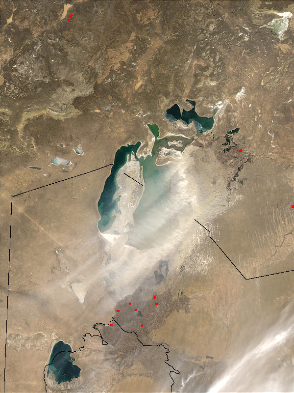 Dust storm over the Aral Sea - related image preview