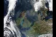 Saharan dust over the North Sea (Terra/Aqua combination)