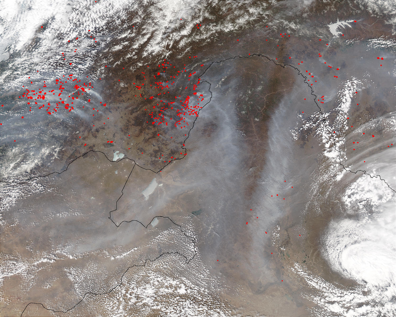 Fires and Smoke in Eastern Asia - related image preview