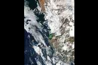Phytoplankton bloom off South Africa